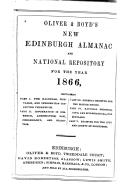 Oliver and Boyd s Edinburgh Almanac