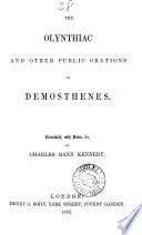 The Olynthiac and Other Public Orations of Demosthenes Book