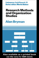 Research Methods and Organization Studies [Pdf/ePub] eBook