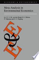 Meta Analysis in Environmental Economics