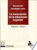 Documento estratégico para la innovación en la educación superior