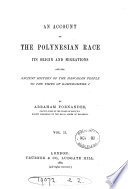 An Account of the Polynesian Race Book