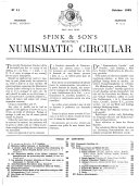 The Numismatic Circular and Catalogue of Coins, Tokens, Commemorative & War Medals, Books & Cabinets