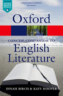 The Concise Oxford Companion to English Literature