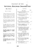 Journal of the National Buildings Organisation