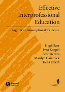 Effective Interprofessional Education