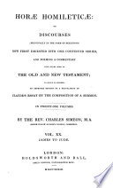 Horae Homileticae, Or Discourses Now First Digested Into One Continued Series and Forming a Commentary Upon Every Book of the Old and New Test Pdf/ePub eBook