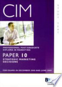 Cim - 10 Strategic Marketing Decisions