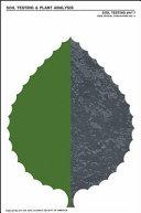 Soil testing and plant analysis