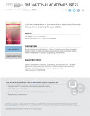 The Next Generation of Biomedical and Behavioral Sciences Researchers Pdf/ePub eBook