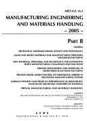 Manufacturing Engineering and Materials Handling  2005 Book