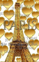 Je T aime Gold Glitter Eiffel Tower Creative Blank Journal Sir Michael Designer Edition