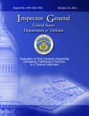 Evaluation of DOD Contracts Regarding Combating Trafficking in Persons: U.S. Central Command Pdf/ePub eBook