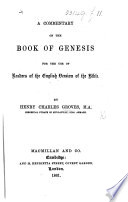 Commentary on the Book of Genesis for the Use of Readers of the English Version of the Bible