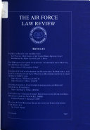 Pdf The Air Force Law Review