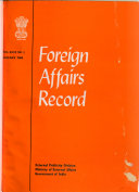 Foreign Affairs Record