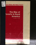 The Rise Of Poverty In Rural America Book PDF
