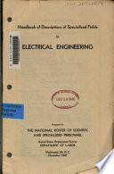 Handbook of Descriptions of Specialized Fields in Electrical Engineering
