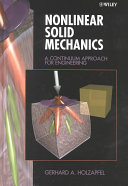 Nonlinear Solid Mechanics Book