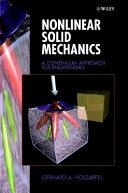 Nonlinear Solid Mechanics Book PDF
