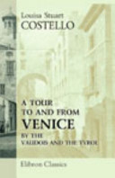 A Tour to and from Venice  by the Vaudois and the Tyrol Book