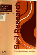 Australian Journal of Soil Research Book
