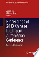 Proceedings Of 2013 Chinese Intelligent Automation Conference Book PDF