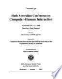 Sixth Australian Conference on Computer-Human Interaction