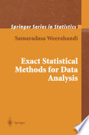 Exact Statistical Methods for Data Analysis
