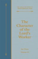 The Character of the Lord's Worker [Pdf/ePub] eBook