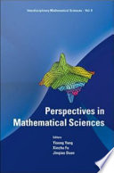 Perspectives In Mathematical Sciences Book PDF