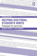 Helping Doctoral Students Write Book