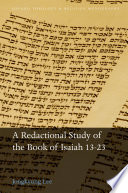 A Redactional Study of the Book of Isaiah 13 23