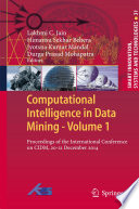 Computational Intelligence in Data Mining   Volume 1 Book