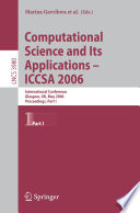 Computational Science and Its Applications   ICCSA 2006 Book