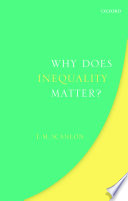 """""""Why Does Inequality Matter?"""" by Thomas Scanlon"""