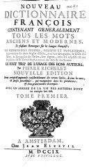 Nouveau Dictionnaire françois