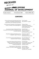 Philippine Journal Of Development