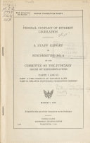 Federal Conflict of Interest Legislation