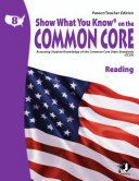 SWYK on the Common Core Reading Gr  8  Parent Teacher Edition