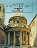 Architecture in Italy  1500 1600