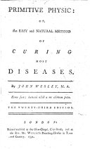 Primitive physic  or  An easy and natural method of curing most diseases     The twenty third edition