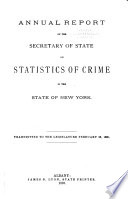 Annual Report of the Secretary of State on Statistics of Crime in the State of New York