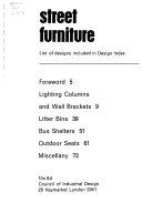 Street Furniture from Design Index