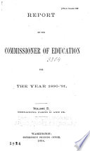 Annual Report of the Commissioner of Education