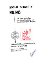 Social Security Rulings on Federal Old age  Survivors  Disability and Health Insurance Benefits Book