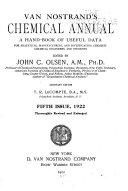 Van Nostrand s Chemical Annual