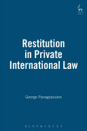 Restitution in Private International Law
