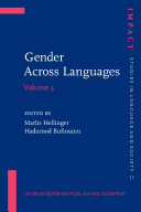Gender Across Languages: The linguistic representation of ...
