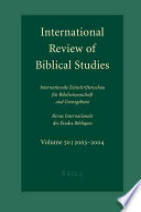 International Review Of Biblical Studies 2003 2004